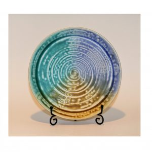 Blue, Green, and Yellow Ash Dinner Plate