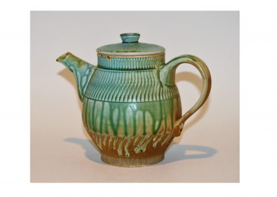 Blue, Green, and Yellow Ash Teapot