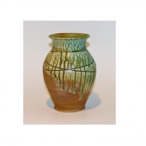 Blue, Green, and Yellow Ash Flower Vase