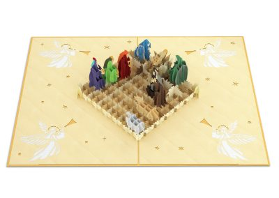 Kirigami Nativity Scene