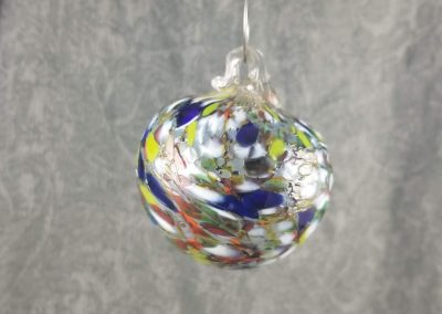 Multicolor Glass Ornament