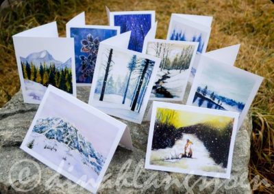 Wintry Greeting Card Pack of 9