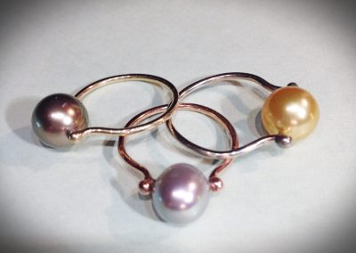 Pearl Ladies Rings