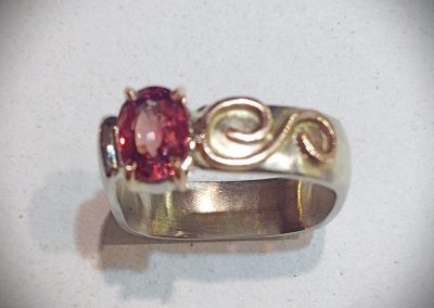14Kt Pink Tourmaline Ladies Ring