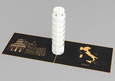 Kirigami Art – Leaning Tower of Pisa