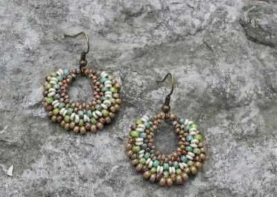 Handwoven Statement Earrings – Round Dangles