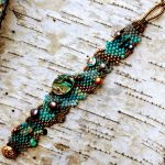 Hand Woven Abalone Mother of Pearl Bracelet